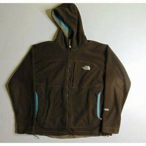 North Face L Windstopper Fleece Jacket Brown